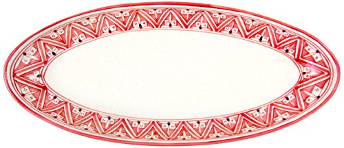 Le Souk Ceramique NJ12 Stoneware Extra Large Oval Platter, Nejma