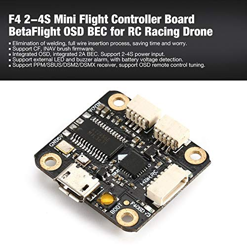 Wikiwand F4 2-4S Mini Flight Controller Board BetaFlight OSD BEC for RC Racing Drone