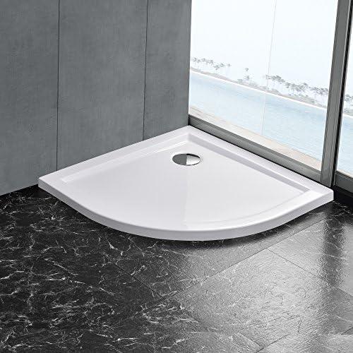 Plato de Ducha de Neu.Haus, 100x100 cm, Blanco, Cuatro de Circunferencia, extraplano: Amazon.es: Juguetes y juegos