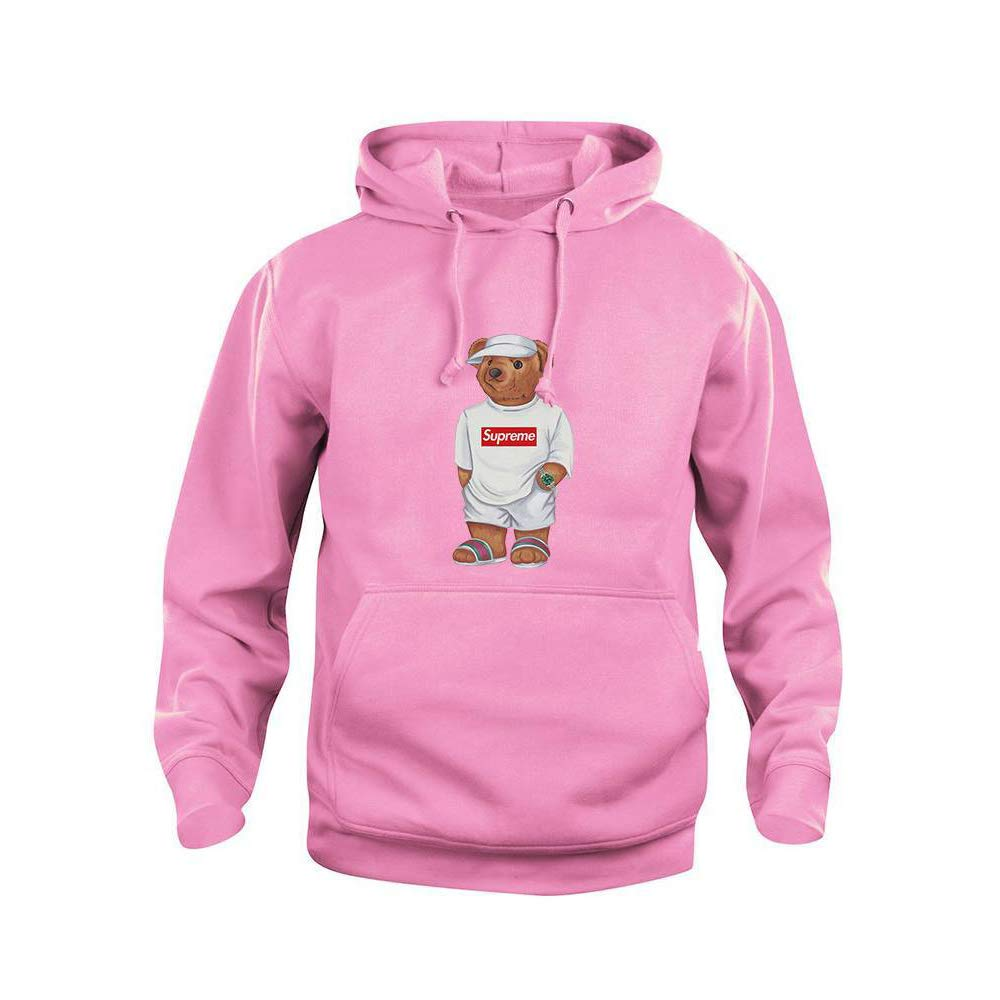 Bear Pink Cally Supreme Sweatshirt Sleeve Hoodie At The Long jLq45AR3