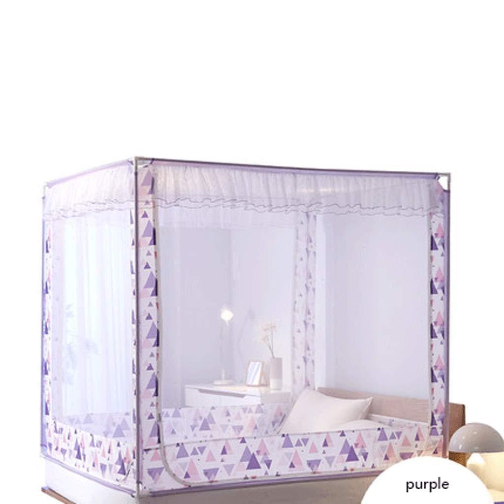 ダストトップ蚊帳ジッパードロップ子供1.5 / 1.8メートルベッド2メートル家庭用蚊帳暗号化肥厚王女の風 (色 : A, サイズ さいず : 1.5m bed) 1.5m bed A B07S6FZY98