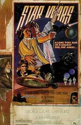 Star Wars Vintage Edition George Lucas Movie One Sheet Poste