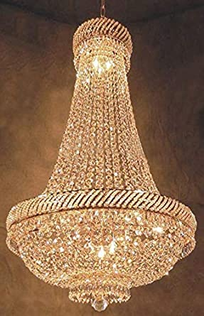 French Empire Crystal Chandelier Chandeliers Lighting H46 X W23