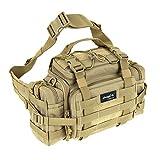 SHANGRI-LA Tactical Assault Gear Sling Pack Range Bag Hiking Fanny Pack Waist Bag Shoulder Backpack EDC Camera Bag MOLLE Modular Deployment Compact Utility Carry Bag Heavy Duty with Shoulder Strap