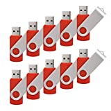 100 Pack 4G USB Flash Drive USB 2.0 4GB Flash Drive Memory Stick Fold Storage Thumb Stick Pen New Swivel Design Red