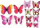 Butterfly Wall Decor 3D Sticker Decal Art Craft Removable DIY Hand Made ...