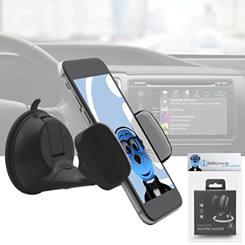 Price comparison product image Heavy Duty (Case Compatible) 360 Degrees Rotating Multi Angle Windshield Dashboard Car Mount Holder for Asus ZenFone 4 ZE554KL 2017