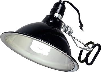 Attractive Hydrofarm Black 7.8u0026quot; Decorative Clamp Light, Includes 26 Watt CFL Grow  Light