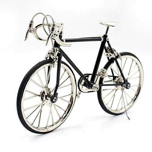 T.Y.S Racing Bike Model Alloy Simulated Road Bicycle Model Decoration Gift, Black