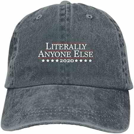 5d0ef46edf6434 Trikahan 2020 Literally Anyone Else Unisex Washed Adjustable Cowboy Hat  Denim Baseball Caps