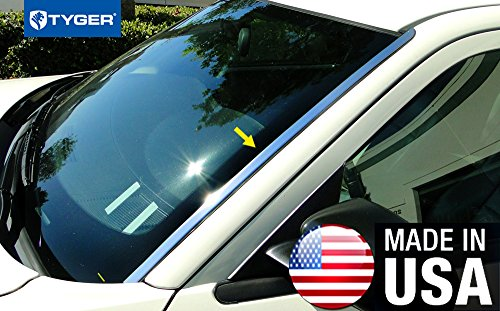 Panel Windshield Chrome (Made in USA! Front Windshield Post Trim Wide 2PC Fit 05-10 Chrysler 300 300C Dodge Magnum)