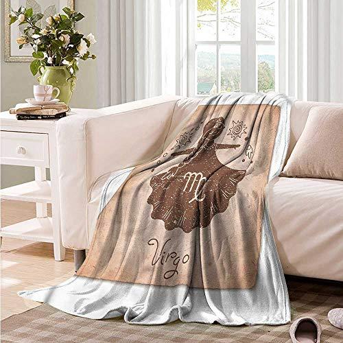 (Oncegod Baby Blanket Virgo Constellation Image Girl car/Airplane Travel Throw 84