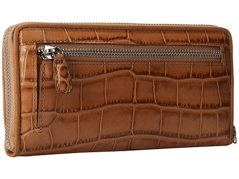 Brighton Womens Mingle Large Zip Wallet Toast