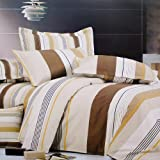 Blancho Bedding - [Shale] Luxury 5PC Bed In A Bag Combo 300GSM (Twin Size)