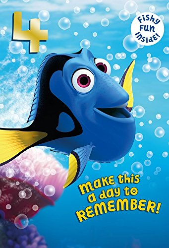 (Finding Dory 4th Birthday Card )