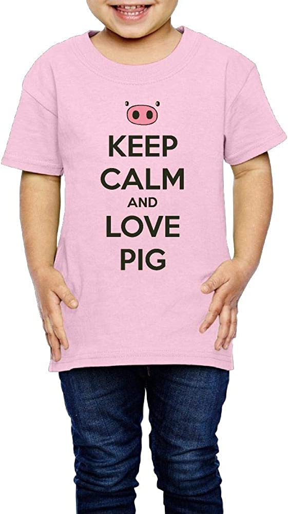 Keep Calm and Love Pigs 2-6 Years Old Children Short Sleeve T Shirt