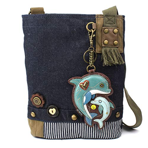 Chala Patch Crossbody - Dolphin- Denim