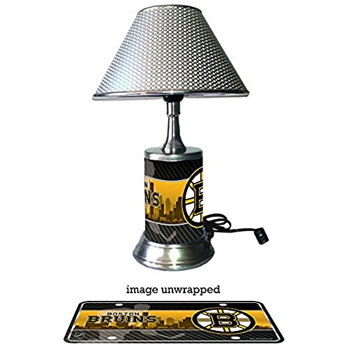 Attractive Boston Bruins Lamp With Chrome Shade
