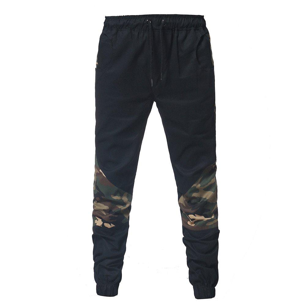 Spbamboo Mens Sweatpants Sport Joint Lashing Belts Casual Loose Drawstring Pants by Spbamboo (Image #2)