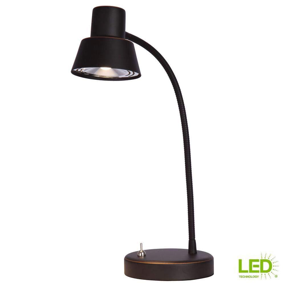 Hampton Bay 14 in. Oil Rubbed Bronze Integrated LED Desk Lamp
