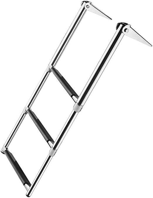 Escalera extensible/ Escalera telescópica Escalera telescópica para Barcos Acero Inoxidable de 3 Pasos para yate Marino/Piscina: Amazon.es: Hogar