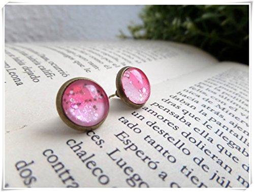 Price comparison product image Frozen Studs Nail Polish Studs Pink Glitter Studs Feminine Earrings Sparkling Stud Harajuku Earrings