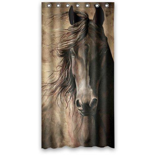 "Custom Unique Handsome Horse Pattern Waterproof Shower Curtain 36"" x 72"",about 90cm x 183cm"