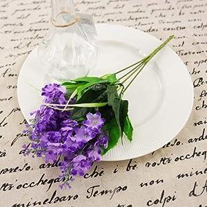 Bubble-Princess - 1pcs 16x35 cm Plastic 5 Heads Artificial Lavender Flowers Hyacinth Plant Silk Flower Wedding Arrangement Home Decoration 8