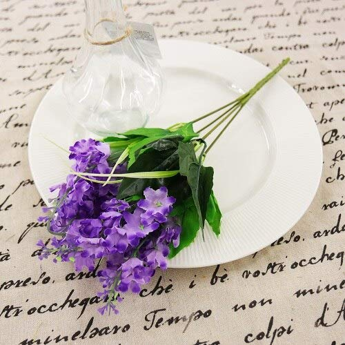 Bubble-Princess - 1pcs 16x35 cm Plastic 5 Heads Artificial Lavender Flowers Hyacinth Plant Silk Flower Wedding Arrangement Home Decoration