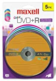 Maxell 4.7 GB DVD+R Color 5pk Card (5-Pack)