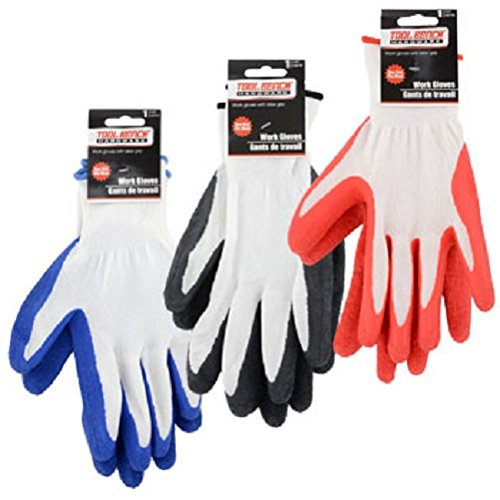 Bench Hardware ((3 Pack) Tool Bench Hardware Latex-grip Knit Gloves)
