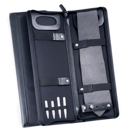 Bey-Berk BB414B Black Ballistic Nylon Travel Tie Case by Bey-Berk