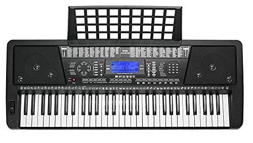 amazon com knox 61 key touch sensitive keyboard black musical