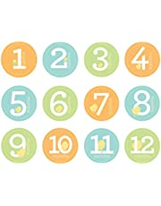 Pearhead First Year Monthly Milestone Belly Stickers, Neutral