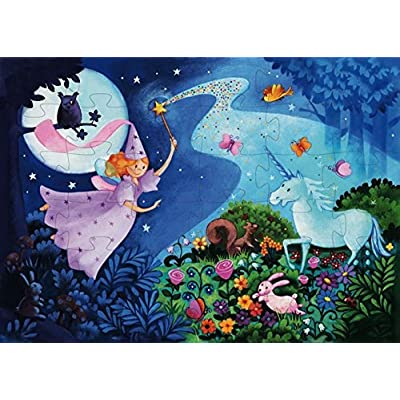 Djeco / Shaped Box Puzzle, The Fairy and The Unicorn: Varios: Toys & Games