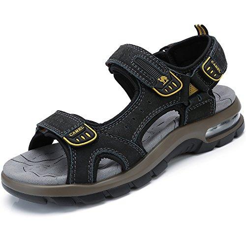 Libre de Viajar Caminar Sneaker en Verano Zapatos Playa con Hombres para la Black Aire al Transpirable Agujero Sandalias para Perfecto Casual dYZ7xwdq