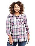 Motherhood Plaid High-Low Hem Maternity Tunic