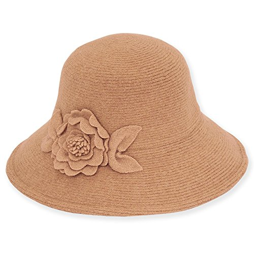adora-womens-soft-wool-floppy-bucket-hat-with-self-floral-trim-b-camel