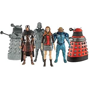 Doctor Who The Big Bang Series 5 Action Figure Gift Box (includes Amy Pond, Stone Dalek, Underhenge Roman Auton, Sontaran General, Roman Auton, Dalek Drone)