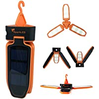 Folding Clover Solar LED 100 Lumen Camping Lantern | USB...