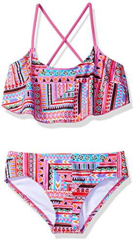 6 Bikini - Kanu Surf Little Girls' Karlie Flounce Bikini Beach Sport 2-Piece Swimsuit, Cindy Pink, 6