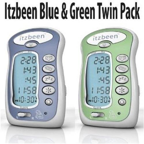 Itzbeen Baby Care Timer (BABY SHOWER GIFT! Itzbeen Blue & Green Twin Pack Baby Care Timer)