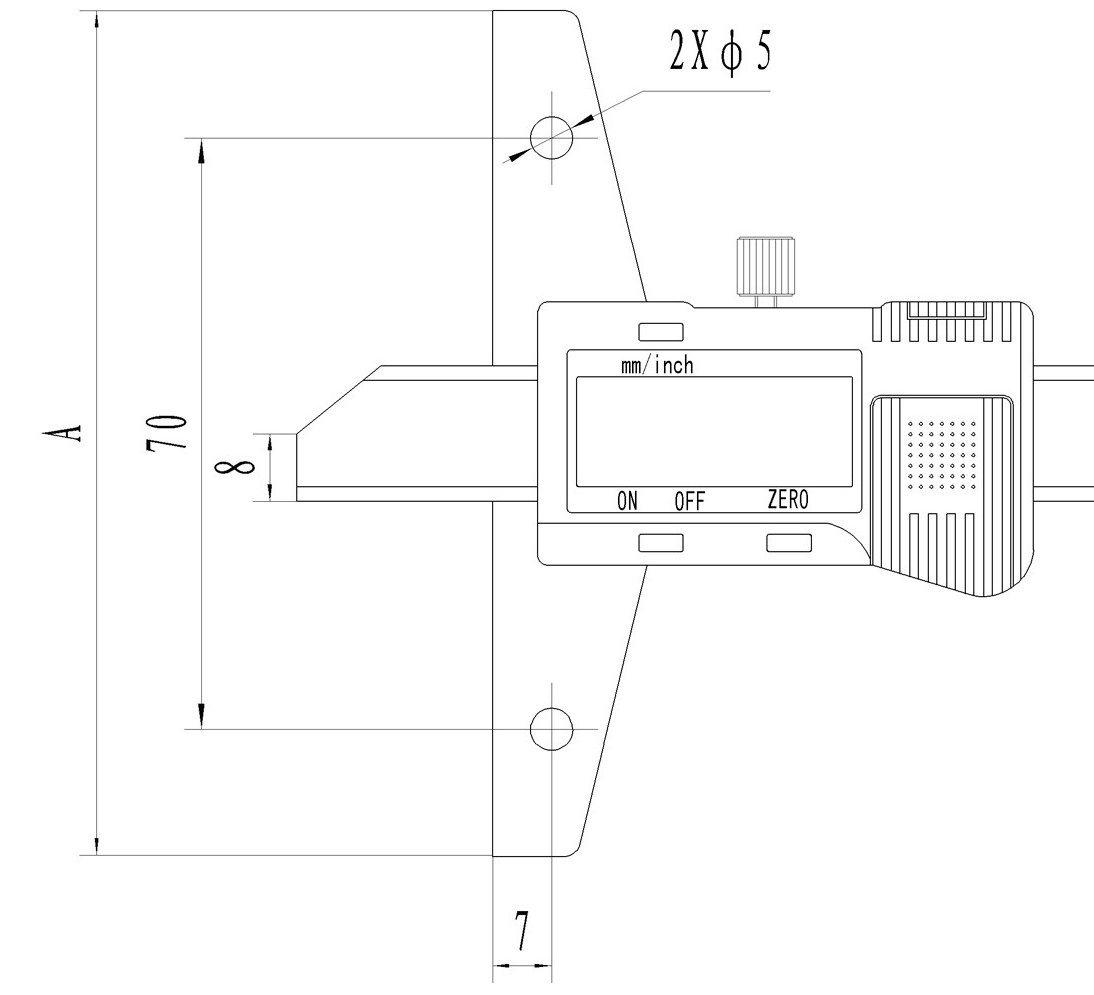 100-813-A Tiefenmessschieber Messbereich 0-300 mm