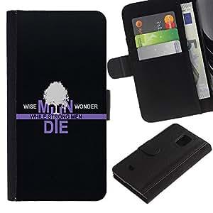 A-type (Magos Wonder) Colorida Impresión Funda Cuero Monedero Caja Bolsa Cubierta Caja Piel Card Slots Para Samsung Galaxy S5 Mini (Not S5), SM-G800