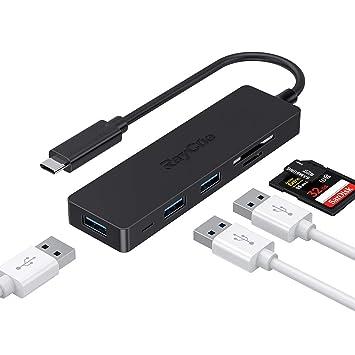 RayCue HUB USB C, Concentrador de 5 en 1 Adaptador USB Tipo C con ...