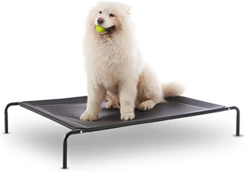 Western Home Elevated Dog Bed Cooling Raised Pet Cot for Indoor Outdoor Extra Large Medium Small Dogs
