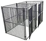 Lucky Dog European Style Modular 2-Run Kennel with Common Wall, 6 by 5 by 5-Feet