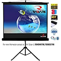 RADIANS Tripod Type Projector Screen with Stand (White, 6x4ft)