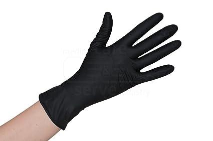 saldi qualità affidabile lussureggiante nel design 100 pezzi di nitrile nero - dimensione XXL - guanti monouso EN455 - senza  polvere - non sterile guanti da cucina tatuaggio guanti - per il tatuaggio