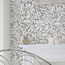 Vintage Lace Stencil - Elizabeth English Lace Furniture Floor Wall Stencil (Large)